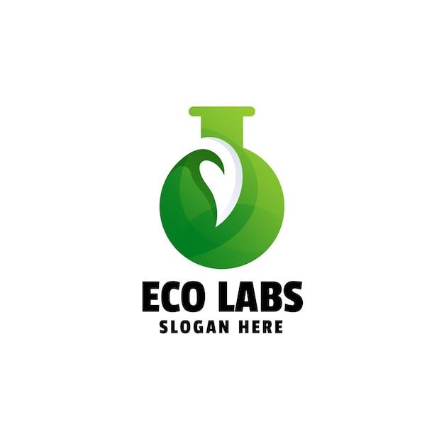 Modèle de logo dégradé eco labs