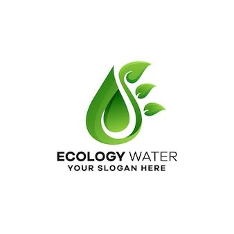 Modèle De Logo De Dégradé écologique Vecteur Premium