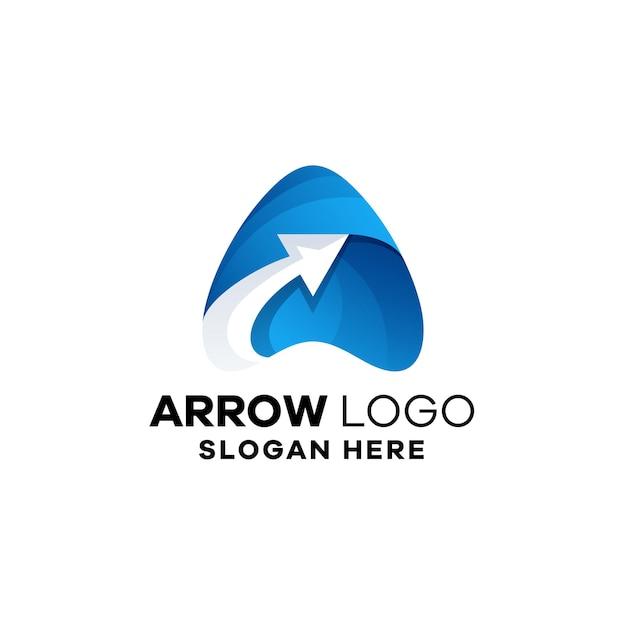 Modèle de logo dégradé flèche abstraite