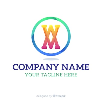Modèle de logo dégradé avec forme abstraite