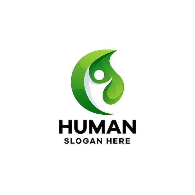Modèle de logo de dégradé humain