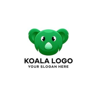 Modèle de logo dégradé koala