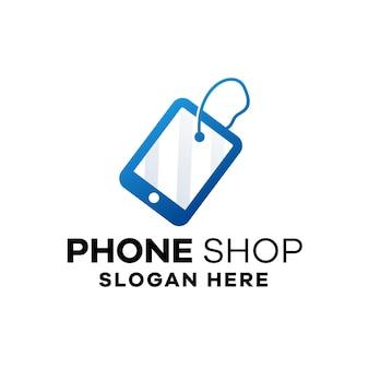 Modèle de logo de dégradé de magasin de téléphone