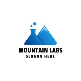 Modèle de logo dégradé mountain labs