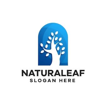 Modèle de logo de dégradé de nature
