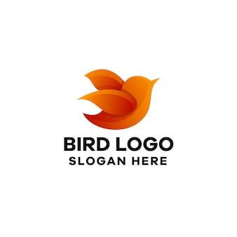Modèle de logo de dégradé d'oiseaux