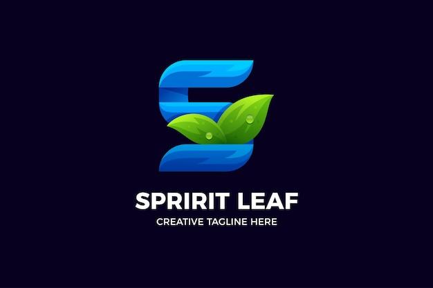 Modèle de logo dégradé organique nature