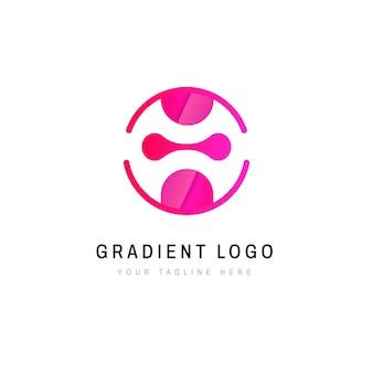 Modèle de logo dégradé