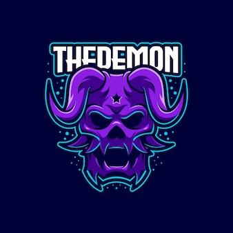 Le modèle de logo démon e-sports
