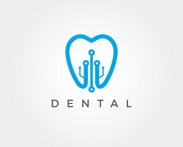Modèle de logo dentaire minimal