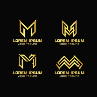 Modèle de logo design lettre m