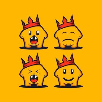 Modèle de logo de dessin animé