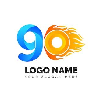 Modèle de logo détaillé