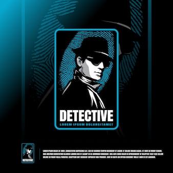 Modèle de logo de détective