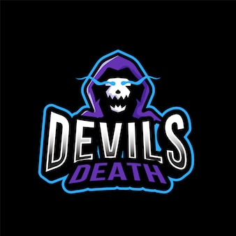 Modèle de logo devil deaths esport
