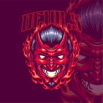 Modèle de logo de diables