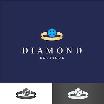 Modèle de logo diamant élégant pour entreprise