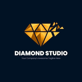 Modèle de logo diamant élégant