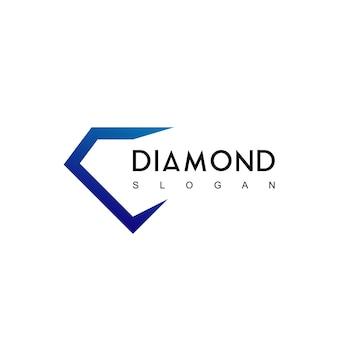 Modèle de logo de diamant vectoriel