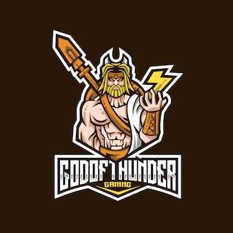 Modèle de logo de dieu du tonnerre
