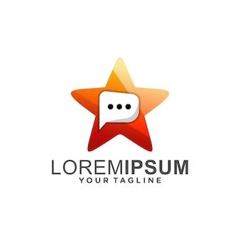 Modèle de logo de discussion