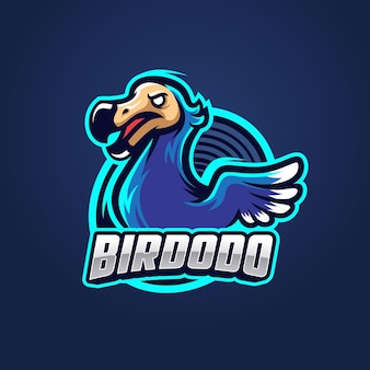 Modèle de logo dodo bird esport