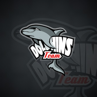 Modèle de logo avec dolphin