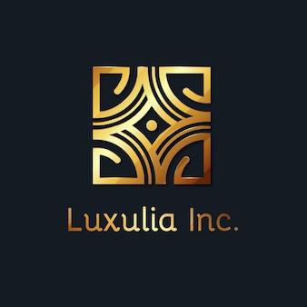 Modèle de logo doré luxueux