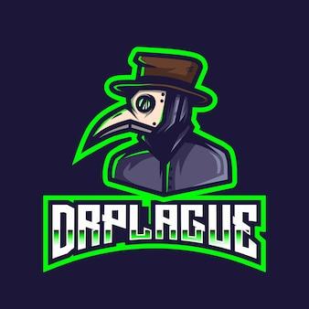 Modèle de logo dr plague esport