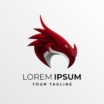 Modèle de logo de dragon dégradé