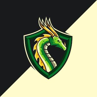 Modèle de logo dragon
