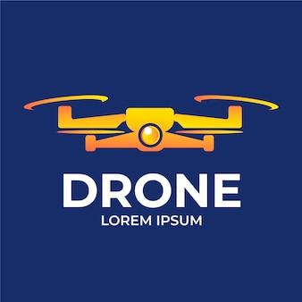 Modèle de logo de drone créatif