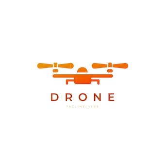 Modèle de logo de drone dégradé créatif