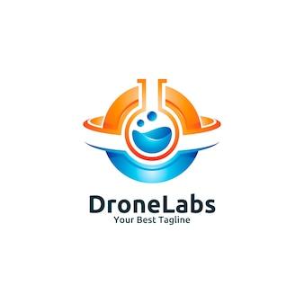 Modèle de logo de drone labs