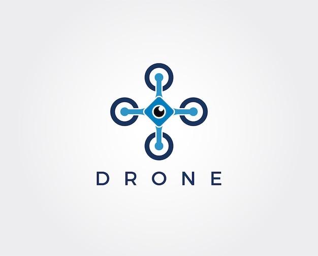 Modèle de logo de drone minimal