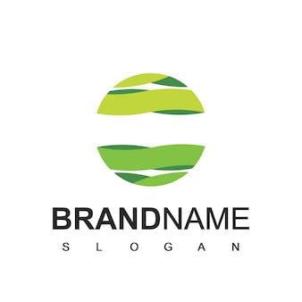 Modèle de logo du monde vert