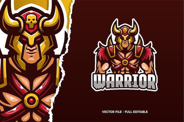 Modèle de logo e-sport viking warrior