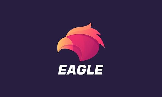 Modèle de logo eagle coloré illustration.