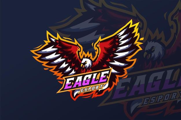 Modèle de logo eagle - esport