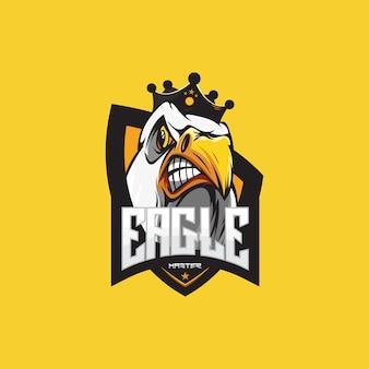 Modèle de logo eagle gaming