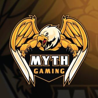 Modèle de logo eagle myth esport
