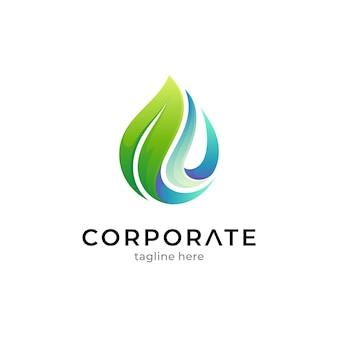 Modèle de logo d'eau douce