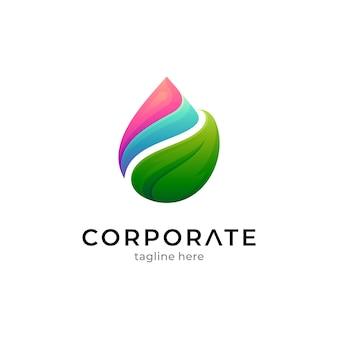 Modèle de logo d'eau pure