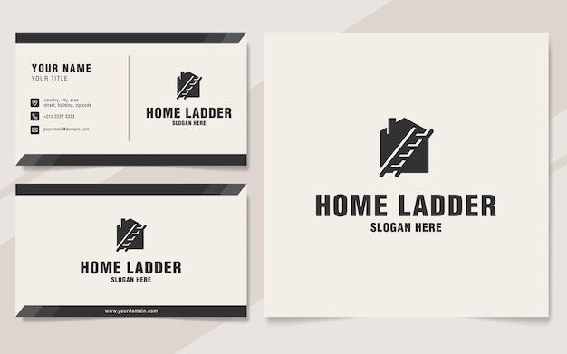 Modèle de logo d'échelle à domicile sur le style monogramme