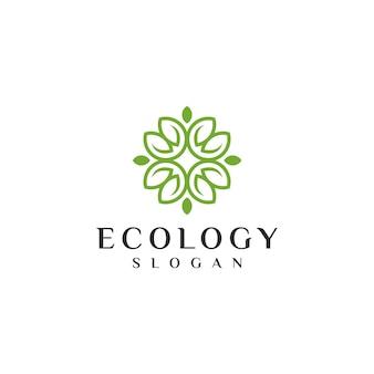 Modèle de logo d'écologie unique