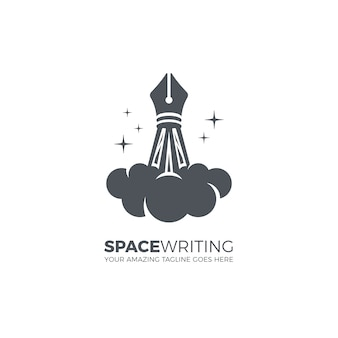 Modèle de logo d'écriture créative