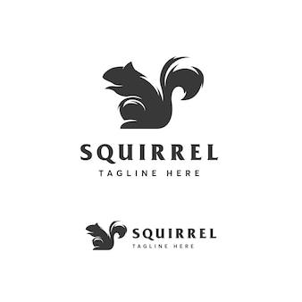 Modèle de logo d'écureuil