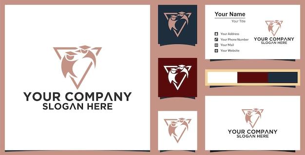 Modèle de logo de l'éducation conception d'illustration vectorielle et carte de visite