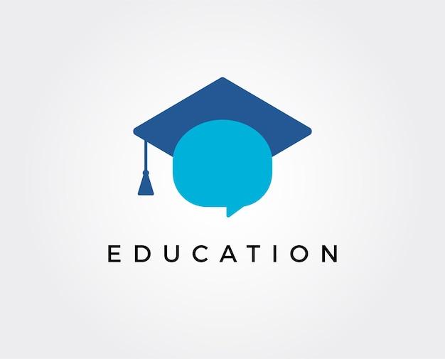 Modèle de logo d'éducation minimale