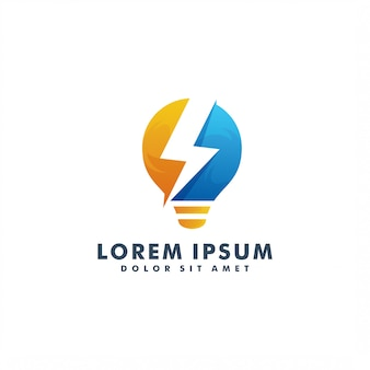 Modèle de logo électrique